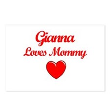 Gianna Loves Mommy Postcards (Package of 8)