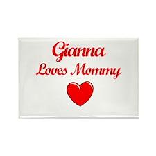 Gianna Loves Mommy Rectangle Magnet