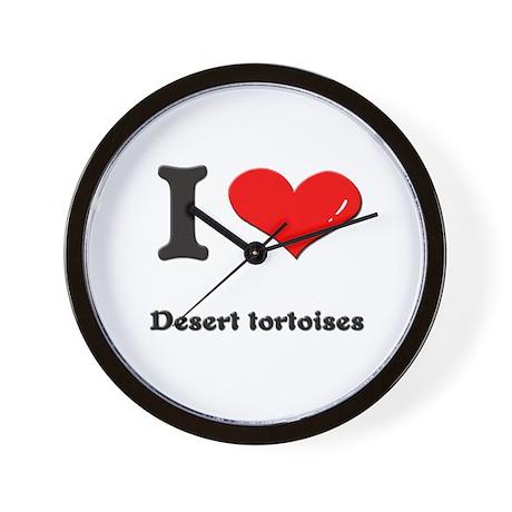 I love desert tortoises Wall Clock