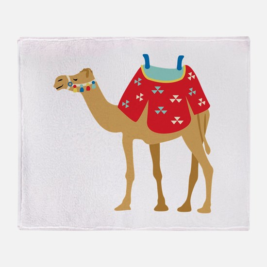 Desert Camel Throw Blanket