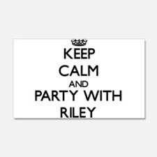 Keep calm and Party with Riley Wall Decal