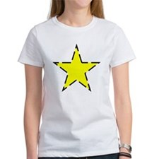 Dotted Line Yellow Star T-Shirt
