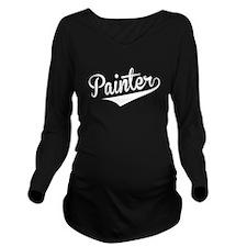 Painter, Retro, Long Sleeve Maternity T-Shirt