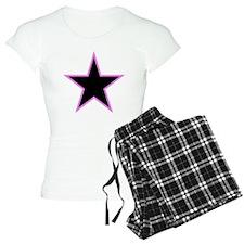 Pink Trim Black Star Pajamas