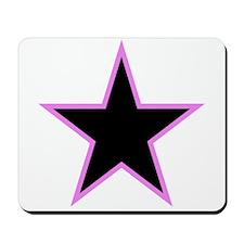 Pink Trim Black Star Mousepad