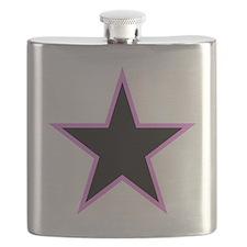 Pink Trim Black Star Flask