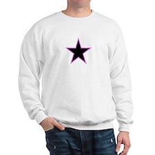Pink Trim Black Star Sweatshirt
