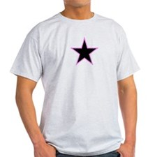 Pink Trim Black Star T-Shirt