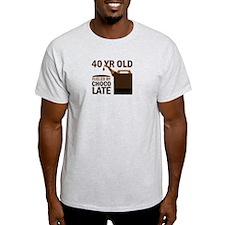 40th Birthday Chocolate T-Shirt