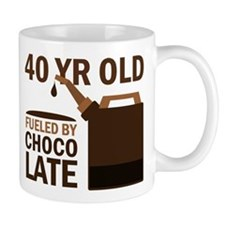 40th Birthday Chocolate Mug
