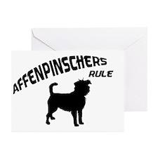 Affenpinschers Rule Greeting Cards (Pk of 10)