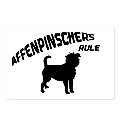 Affenpinschers Rule Postcards (Package of 8)