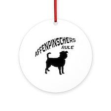 Affenpinschers Rule Ornament (Round)