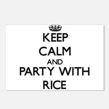 Keep calm and Party with Rice Postcards (Package o