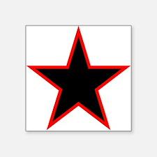 Red Trim Black Star Sticker