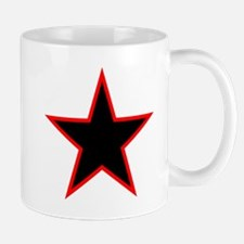 Red Trim Black Star Mugs