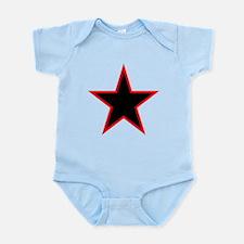 Red Trim Black Star Body Suit