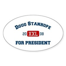 Doug Stanhope for President Oval Decal