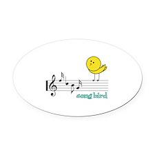 Song Bird Oval Car Magnet