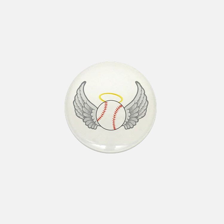 Baseball Angel Mini Button
