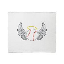 Baseball Angel Throw Blanket