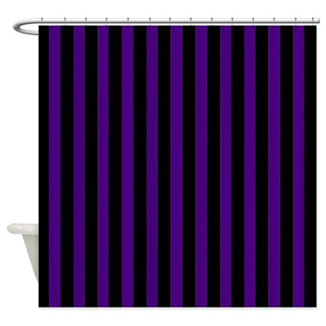 Black And Purple Stripes Shower Curtain By Coolpatterns