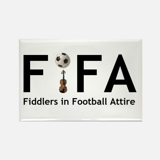 FiFA--Fiddlers in Football At Rectangle Magnet