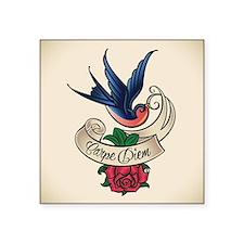 carpe diem bluebird tattoo style Sticker