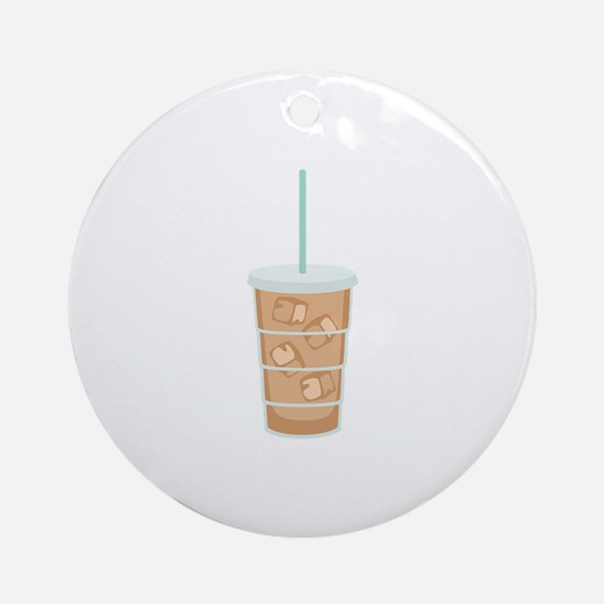 Iced Coffee Drink Ornament (Round)