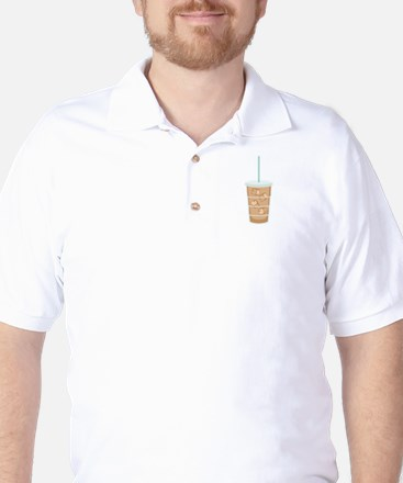 Iced Coffee Drink Golf Shirt