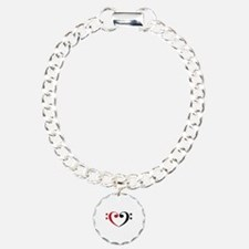 Bass Clef Heart Bracelet