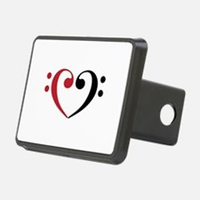 Bass Clef Heart Hitch Cover