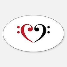 Bass Clef Heart Decal