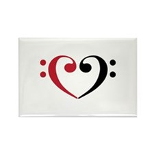Bass Clef Heart Magnets