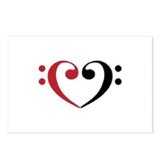 Bass Clef Heart Postcards (Package of 8)