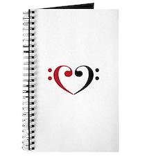 Bass Clef Heart Journal