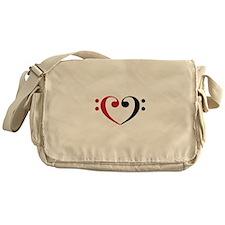 Bass Clef Heart Messenger Bag