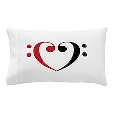 Bass Clef Heart Pillow Case