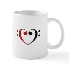 Bass Clef Heart Mugs