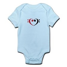 Bass Clef Heart Body Suit