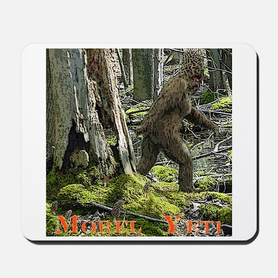 Morel Yeti Big foot gifts Mousepad