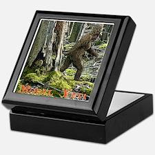 Morel Yeti Big foot gifts Keepsake Box