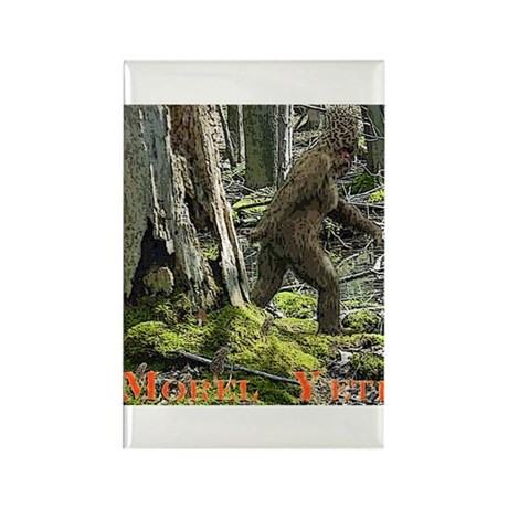 Morel Yeti Big foot gifts Rectangle Magnet (10 pac