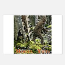 Morel Yeti Big foot gifts Postcards (Package of 8)