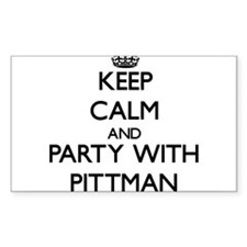 Keep calm and Party with Pittman Decal
