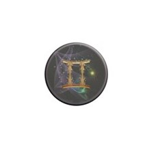 Gemini Zodiac Sign Mini Button (10 pack)