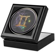 Gemini Zodiac Sign Keepsake Box