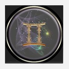 Gemini Zodiac Sign Tile Coaster