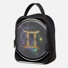 Gemini Zodiac Sign Neoprene Lunch Bag