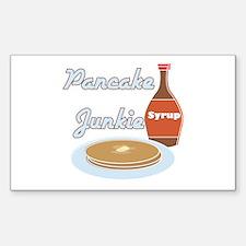 Pancake Junkie Rectangle Decal